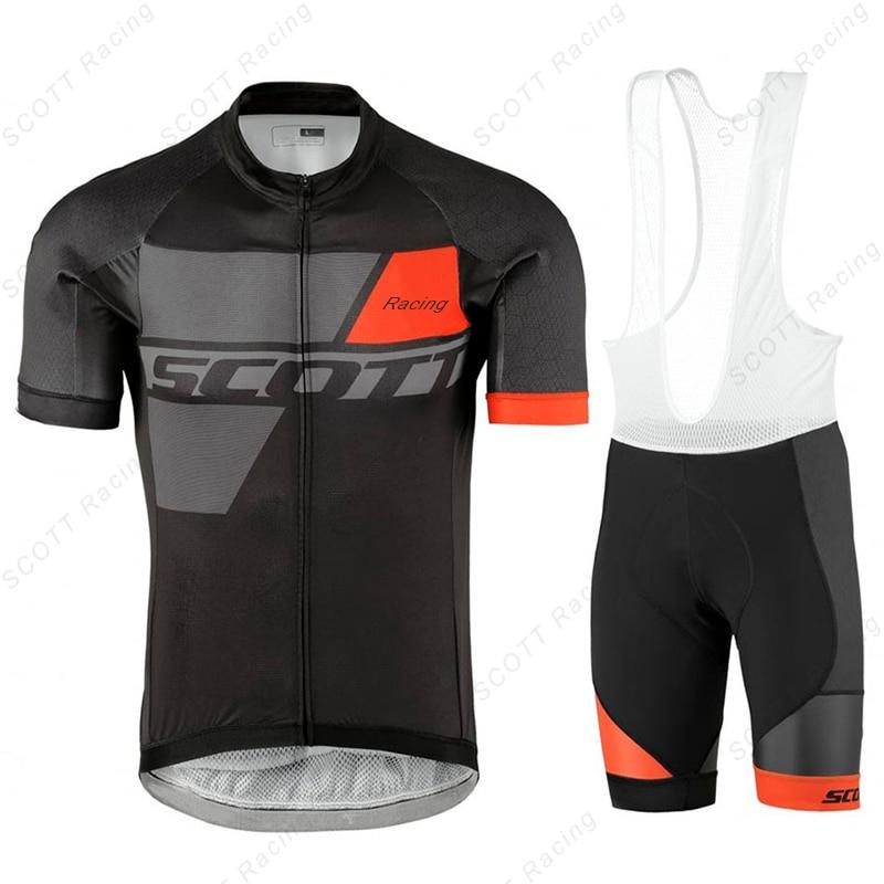 New Cycling Jersey Men Bike Suit Clothes Maillot Ciclismo Ropa Summer Short Sleeve Shirts Bib Shorts Sets Mtb cycles Kit
