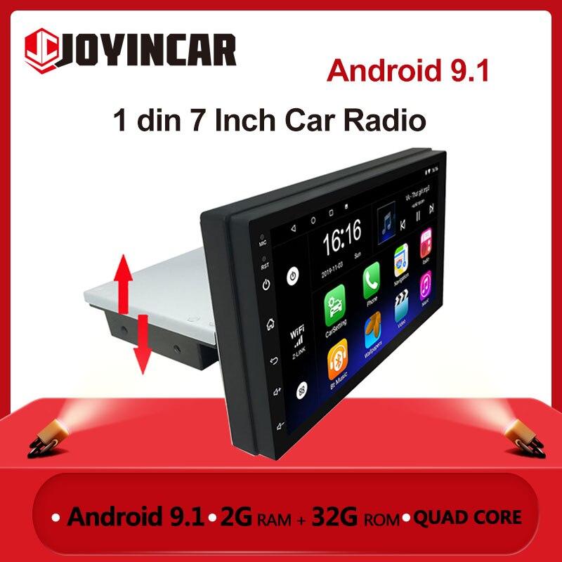 1 DIN ajustable coche Radio Estéreo Android 9,1 7 pulgadas de pantalla de contacto FM 1080P Quad-Core GPS navegación MP5 Player 2G RAM 32G ROM