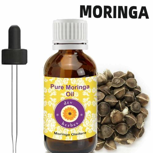 Moringa Oil 100% Pure Virgin Cold Pressed l, Anti-Aging,5ml. Organic Essential Oils