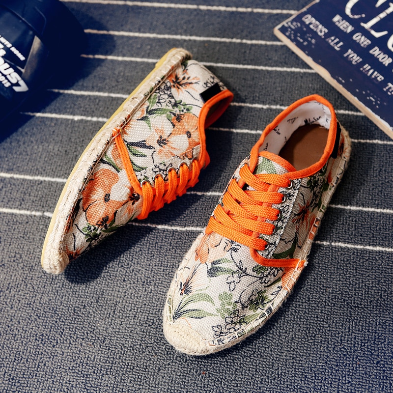 Эспадрильи мужские холщовые, удобные холщовые лоферы, без застежки, повседневная обувь, весна-лето