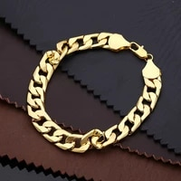36l stainless steel cuban chain mens bracelet new fashion metal accessories two colors