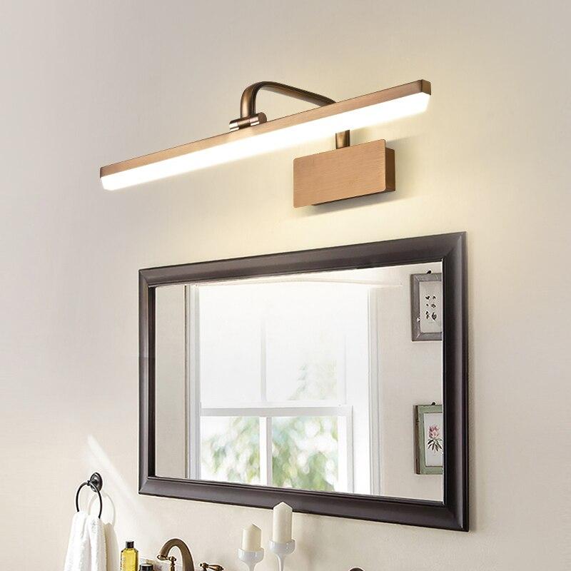 JMZM الحديثة LED مصباح ليد للمرآة بسيطة طويلة الجدار مصباح مرآة ألومنيوم الجبهة ضوء ل الغرور المرحاض حوض لدورة المياه ماكياج ضوء