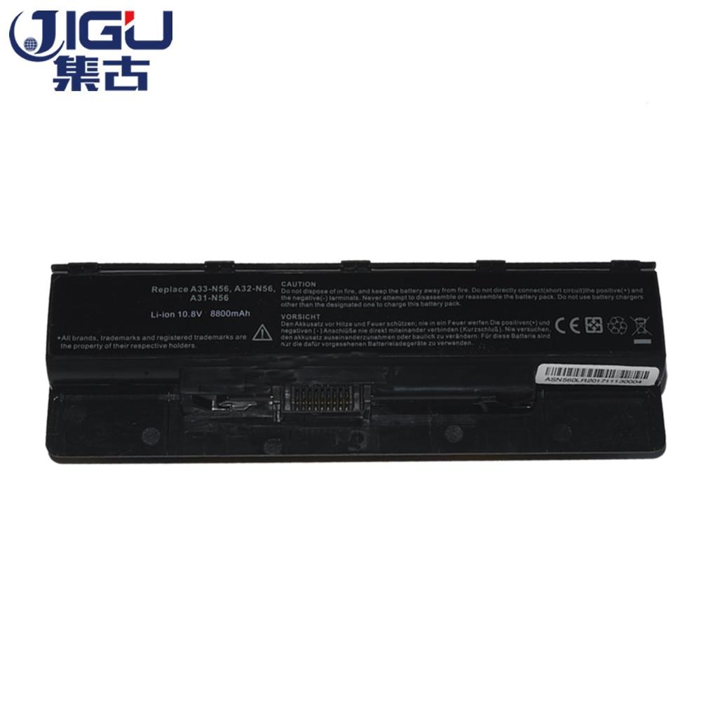 JIGU Новый 12 ячеек Аккумулятор для ноутбука Asus N46 n46v N46VJ N56 N56D N56V N76 N76V A31-N56 A32-N56