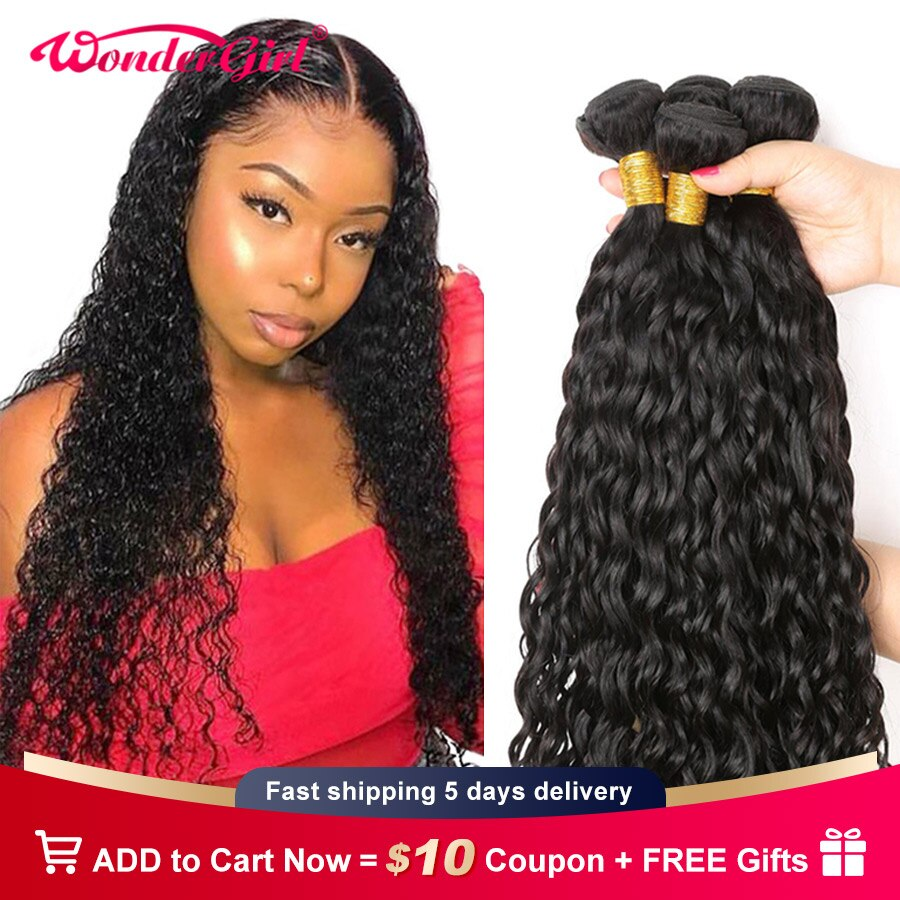 Water Wave Bundles Human Hair Bundles 28 30 Inch 4 Bundles Deal Raw Indian Hair Wet And Wavy Bundles