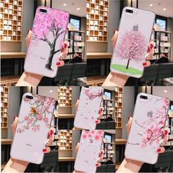 Вишневое дерево DIY Окрашенные красивые аксессуары для телефонов Чехол для iPhone 8 7 6 6S Plus X XS MAX 5 5S SE XR 11 pro max