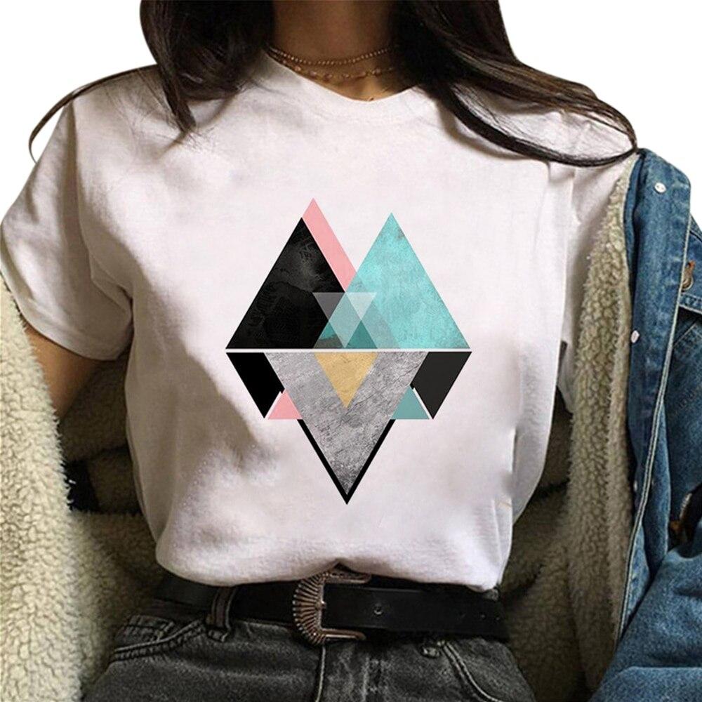 Women T-shirts Casual Harajuku Printed Tops Tee Summer Female T shirt Short Sleeve For Clothing