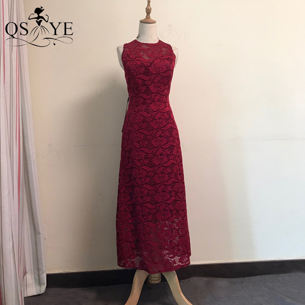 QSYYE Broken Size Lace Mother of the Bride Dresses Short Sheath Lace Evening Dress Elastic Zipper Ba