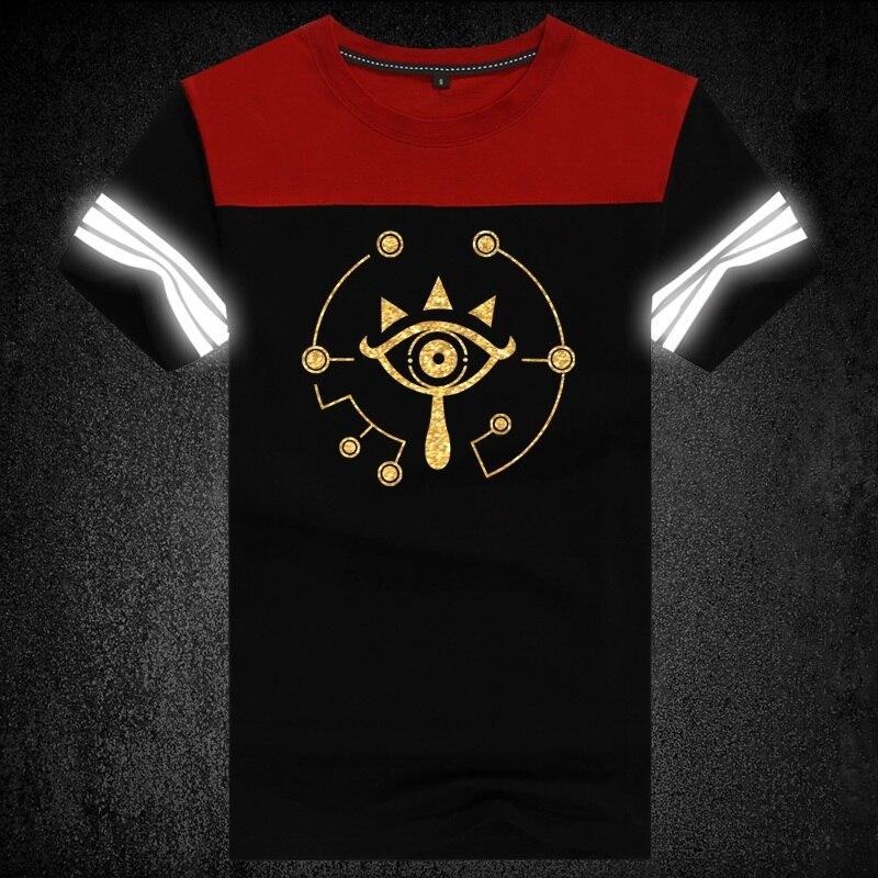 High-Q Unisex Anime porque la leyenda de Zelda Camiseta de Link Camiseta de algodón Casual Zelda Casual Punk reflectante Tee camiseta T Shirt