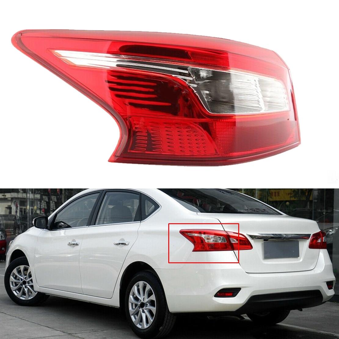 Carro esquerda exterior cauda luz traseira lâmpada de freio 45x19 cm apto para nissan sentra 2016 2017 2018