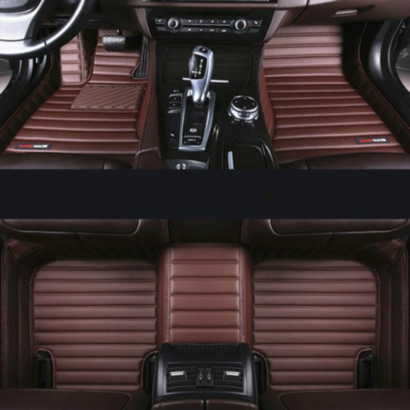 Full Cover Waterproof Leather Coil Carpets Special Car Floor Mats for Right Left Steering Kia K2 K3 K5 KX5 K9 Sorento Sportage