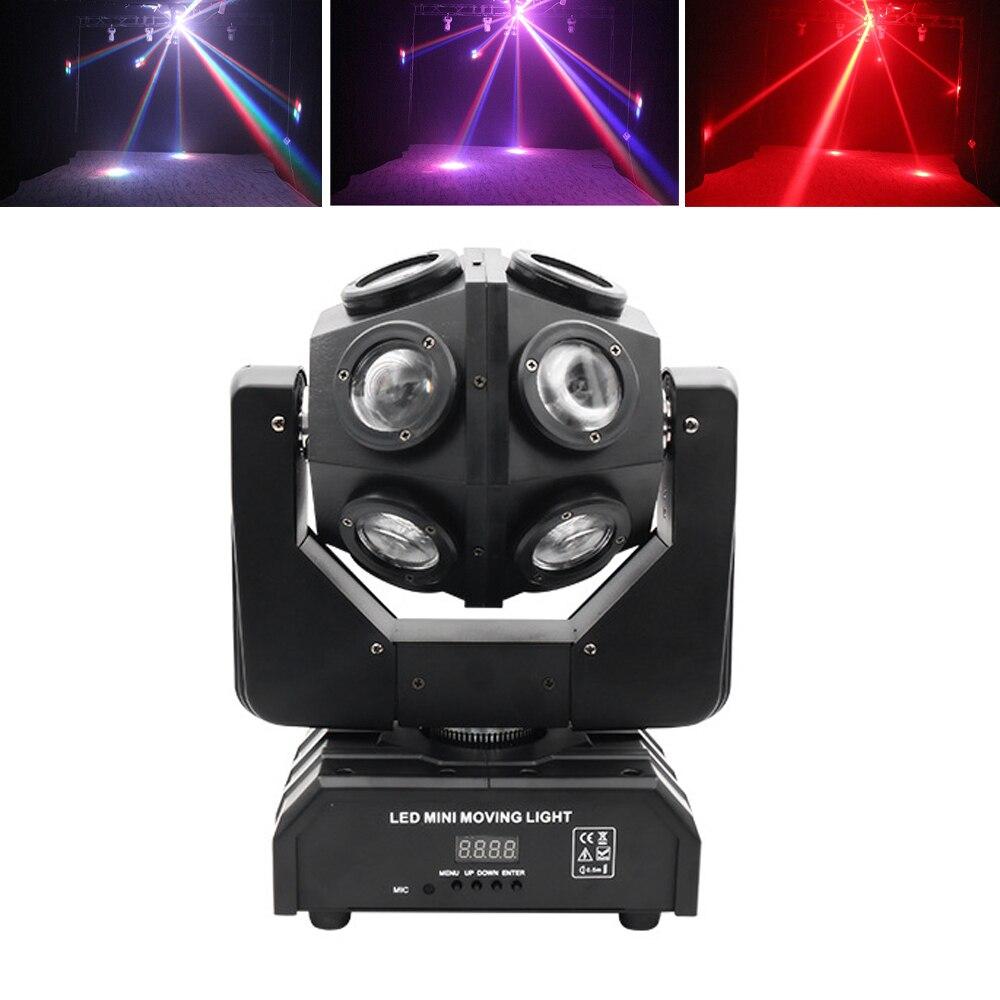12X10W RGBW 4IN1 LED Beam Light Football Light DMX512 Control Moving head Light Professional DJ Party Show Stage Light Wedding