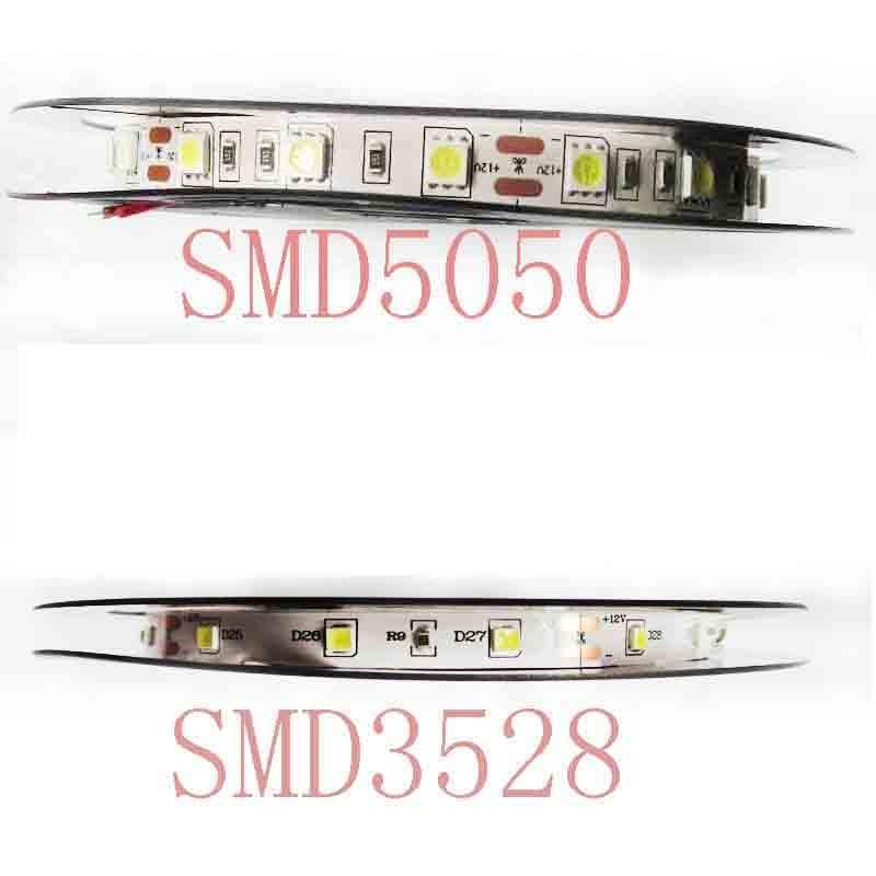 LED Strip 3528 5050 DC12V 60LEDs/m Flexible LED Light RGB 3528 5050 LED Strip 300LEDs 5m/lot