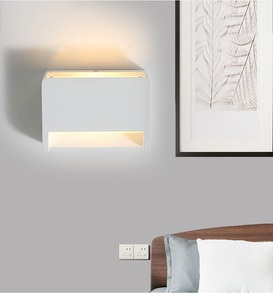 LukLoy Modern LED Wall Lamp Living Room Corridor Dining Room Lamp Bedside Wall sconce Bedroom Simple White LED Wall Fixtures