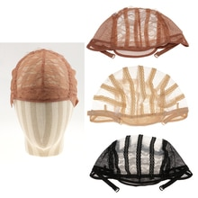 1pcs Lace Mesh Wig Cap for Wig Making Elastic Invisible Weave Hair Net Cap Black/ Brown/ Beige