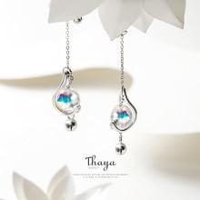 Thaya  Japanese Style Earrings 925 Silver Rainbow Bubble Earrings For Girls Special Fine Jewelry