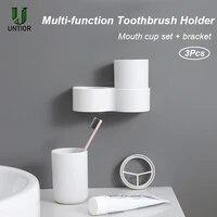 UNTIOR     boite de rangement murale pour dentifrice  gobelet buccal etanche  etagere de salle de bain Portable voyage brosse a dents
