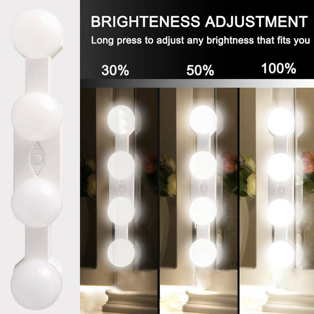 oufula led vanity mirror light usb hollywood style usb 3 colors waterproof Wall Lamp LED 16W Makeup Mirror Vanity Led Light Bulbs Hollywood Style Led Lamp Touch Switch USB Cosmetic Lighted Dressing table