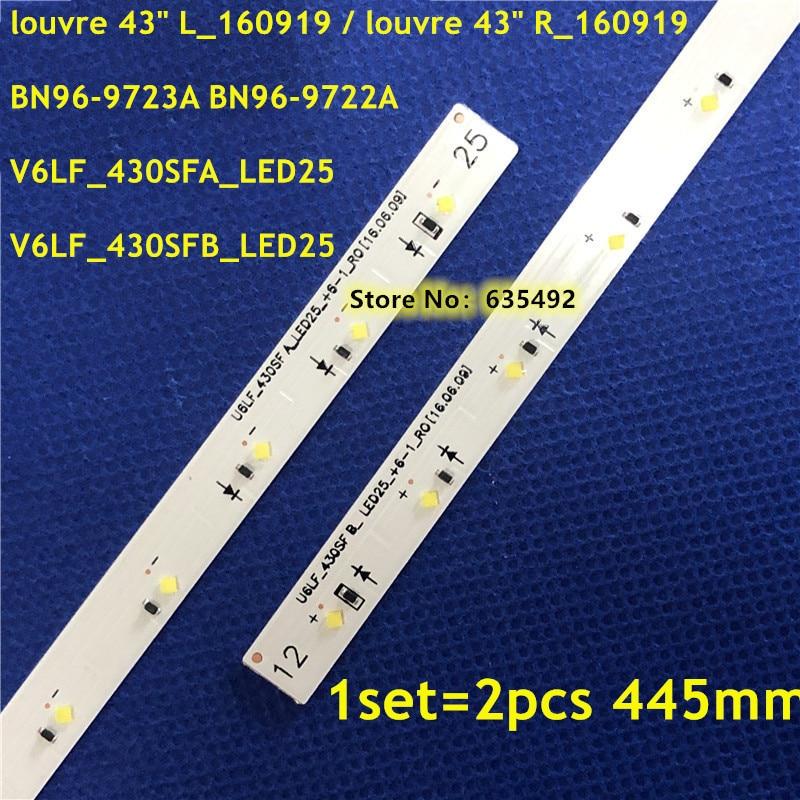 445mm taśmy LED 25 lampa luwru 43 cal L/R_160919 BN96-9722A BN96-9723A V6LF_430SFA_LED25 V6LF_430SFB_LED25 dla UE43K5300 43k5100