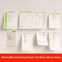 sharkbang 203040 sheets dailly weekly monthly memo pads notes sticky planner notepad desk organizer pads school stationery