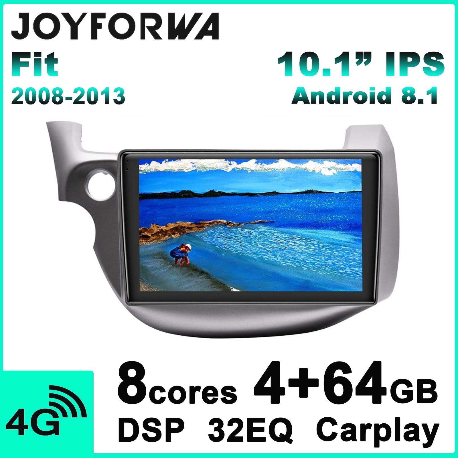 Carplay 10,1 Android 8,1 coche Multimedia Radio para Honda Fit 2008-2013 coche GPS SPDIF DSP Subwoofer WiFi SIM 4G DAB DVR