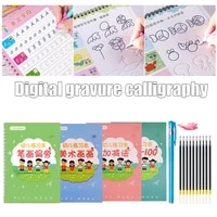 4 books children copybook handwrite practic reusable book magic books calligraphy write book english letter drawing set copybook