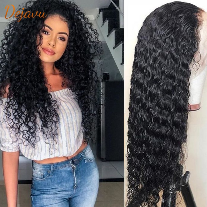 Kinky Curly Frontal Wig Human Hair Lace Frontal Wigs Curly Wave Pre Plucked Wigs Remy 13x4 Frontal Lace Wig
