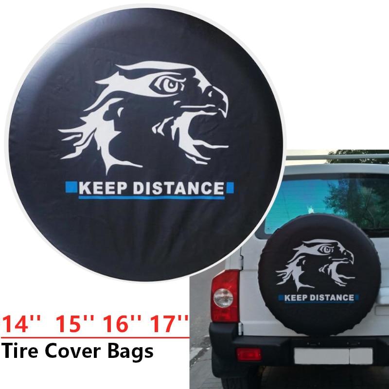 New Universal Car Accessories PVC Car spare wheel cover spare tire cover for Suzuki Mitsubish For Jeep 14 15 16 17 inch black