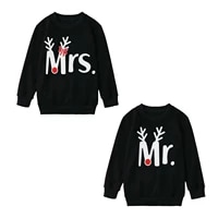 2020 mr and mrs sweaters couple christmas sweatshirt merry christmas husband wife pullover lovely couples hoodies x mas gift 1