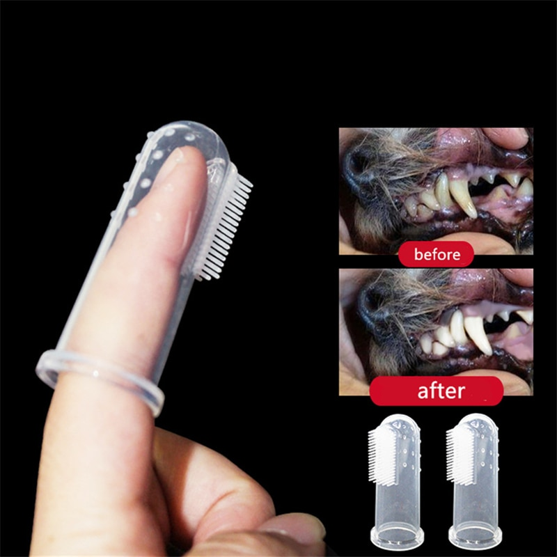 Cepillo de dientes para dedos de Mascota, cepillo de perro de peluche supersuave, herramienta para dientes de sarro con mal aliento, limpiador de perros y gatos, suministros para mascotas