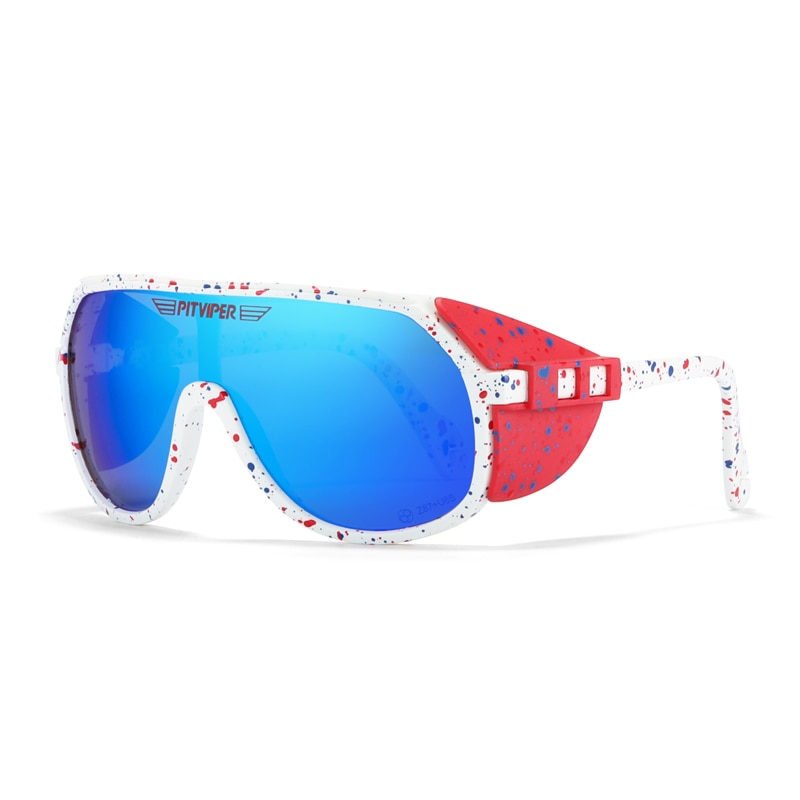 Pit Viper Grand-Prix UV400 Sunglasses Men Sports Removable Shield Sun Glasses Unisex Equipped With ANSI Z87+ UV400 Lens