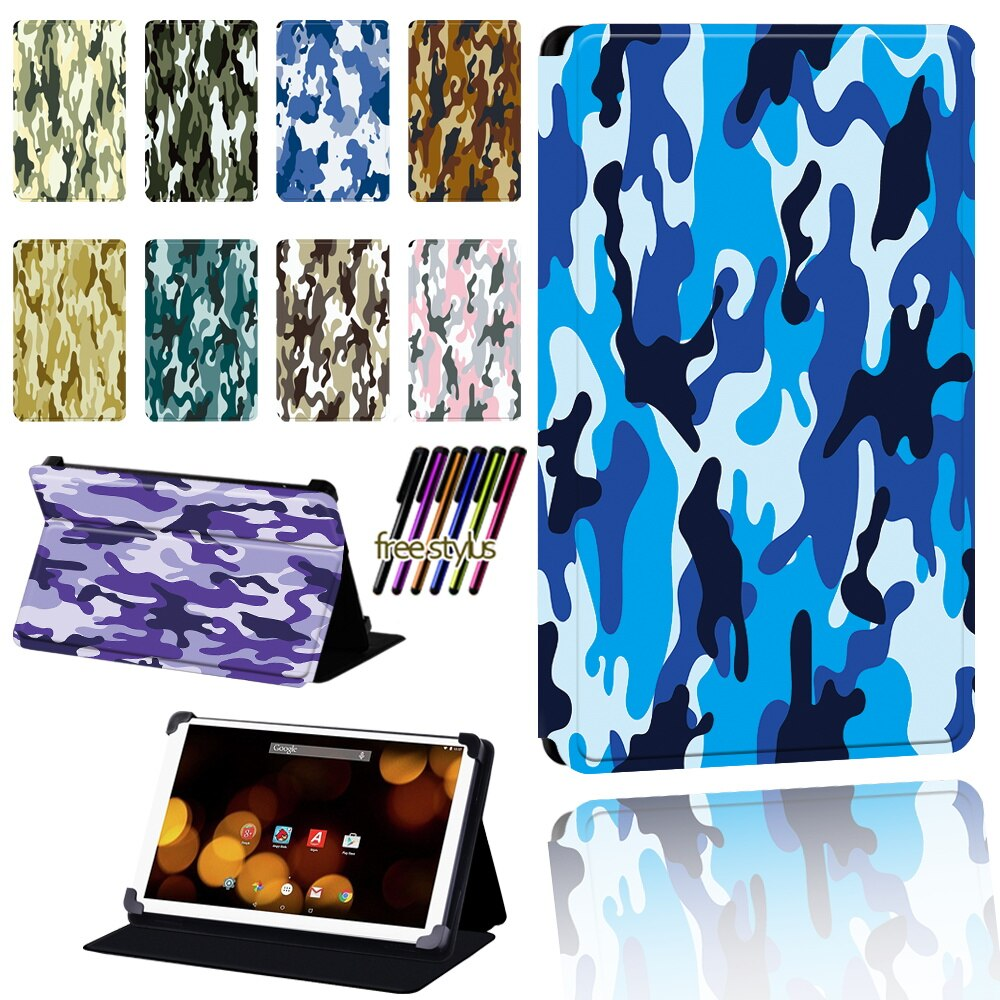 For Argos 7 8 10 10.1Inch Adjustable Dust-proof Camouflage Cover for Argos Bush Spira/Eluma/My Tablet/Breezie Tablet Case+pen