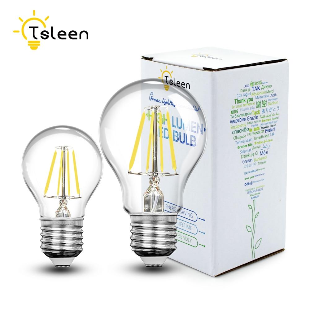 Светодиодсветильник лампа накаливания G45/A60, винтажная круглая лампа Эдисона E27 в стиле ретро, 4 Вт, 8 Вт, 16 Вт, домашсветодиодный LED лампа для г...