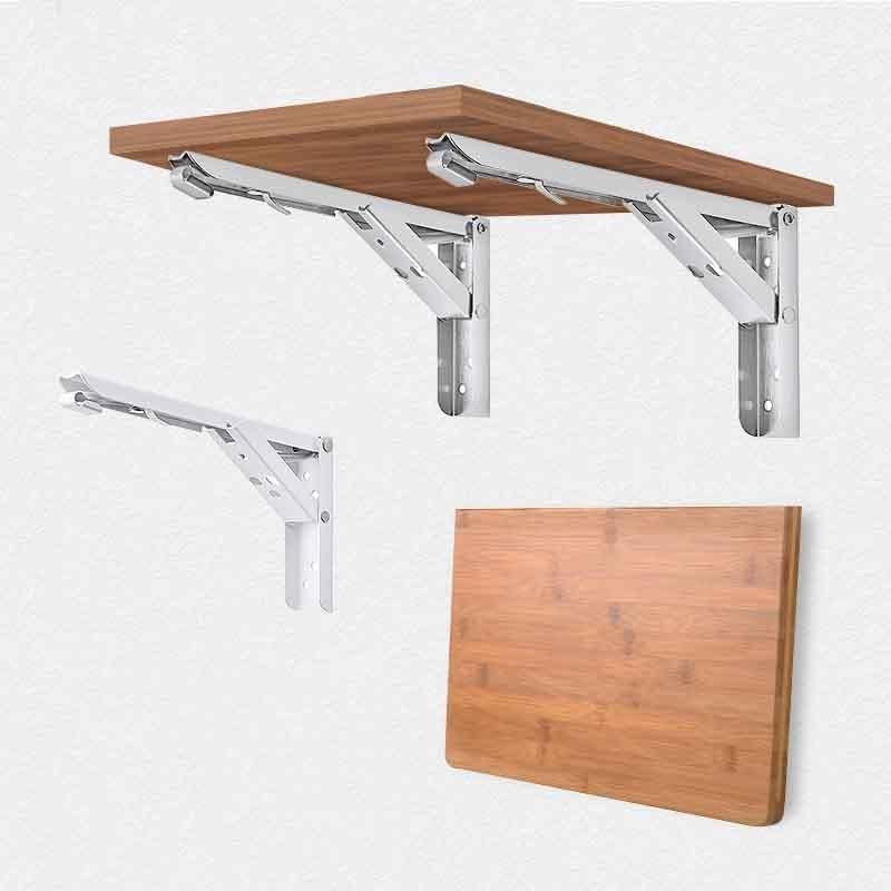 2PCS Triangle Folding Angle Bracket Heavy Support Adjustable Wall Mounted Bench Table Shelf Bracket Furniture Hardware Bracket