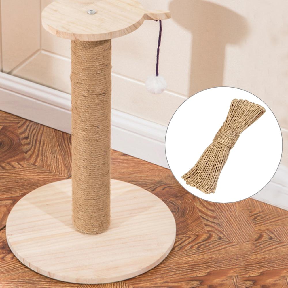 20M/50M cuerda árbol de gato DIY poste de rascado gato de juguete Marco de escalada cuerda de reemplazo patas de escritorio cuerda para atar para gato afilar garra