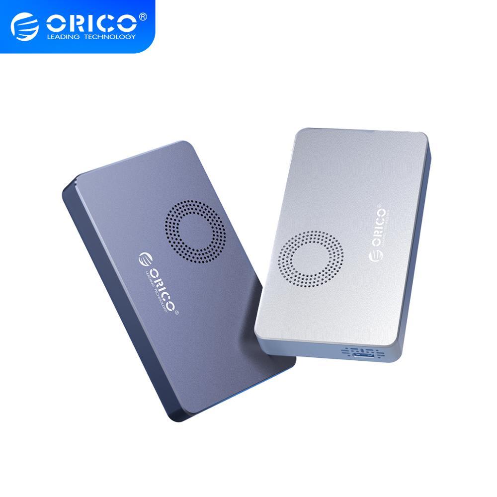 ORICO M.2 NVME SSD Case with Fan SSD Enclosure for M.2 M Key M+B Key SSD Disk USB C 10Gbps Hard Drive Enclosure M.2 SSD Box