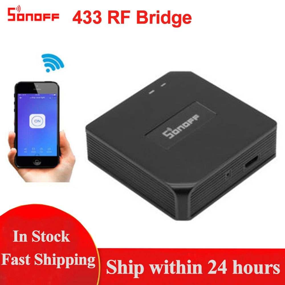 Sonoff RF Bridge, 433MHZ RF remoto convertir a WiFi Control remoto, módulo de automatización de domótica Wifi interruptor Diy controlador