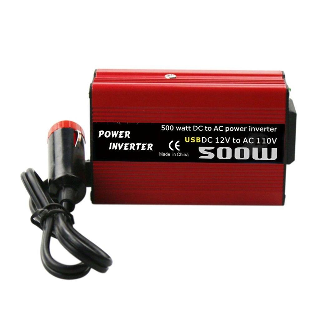 Автомобильный преобразователь напряжения, 500 Вт, 12 в пост. Тока в 110 В, 220 В переменного тока, автоматический трансформатор с двойным USB-адапте...