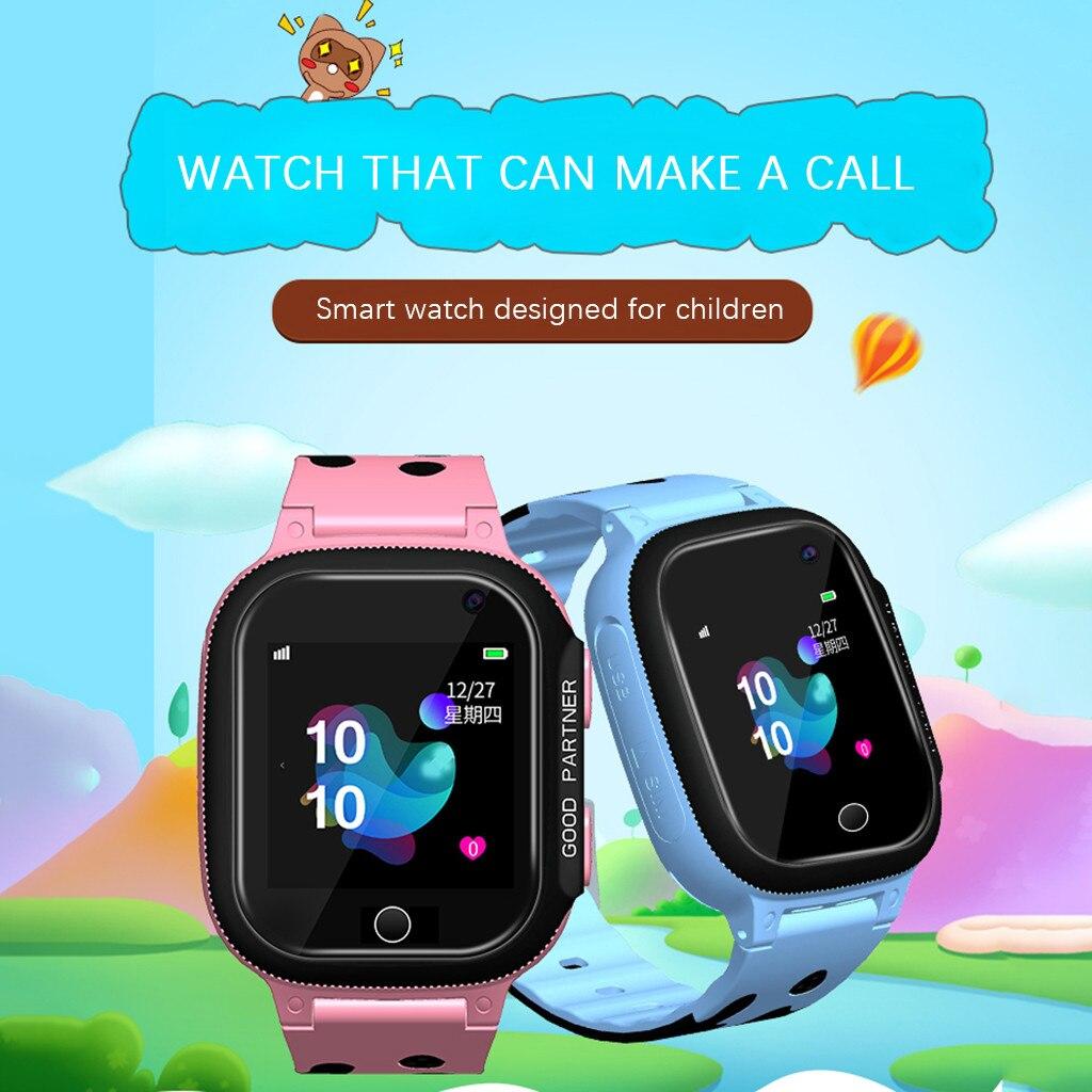 Reloj inteligente antipérdida para niños, GPS, pulgadas, para niños, niñas, niños, reloj inteligente, teléfono, 2G, SIM, TF, tarjeta, Fitness