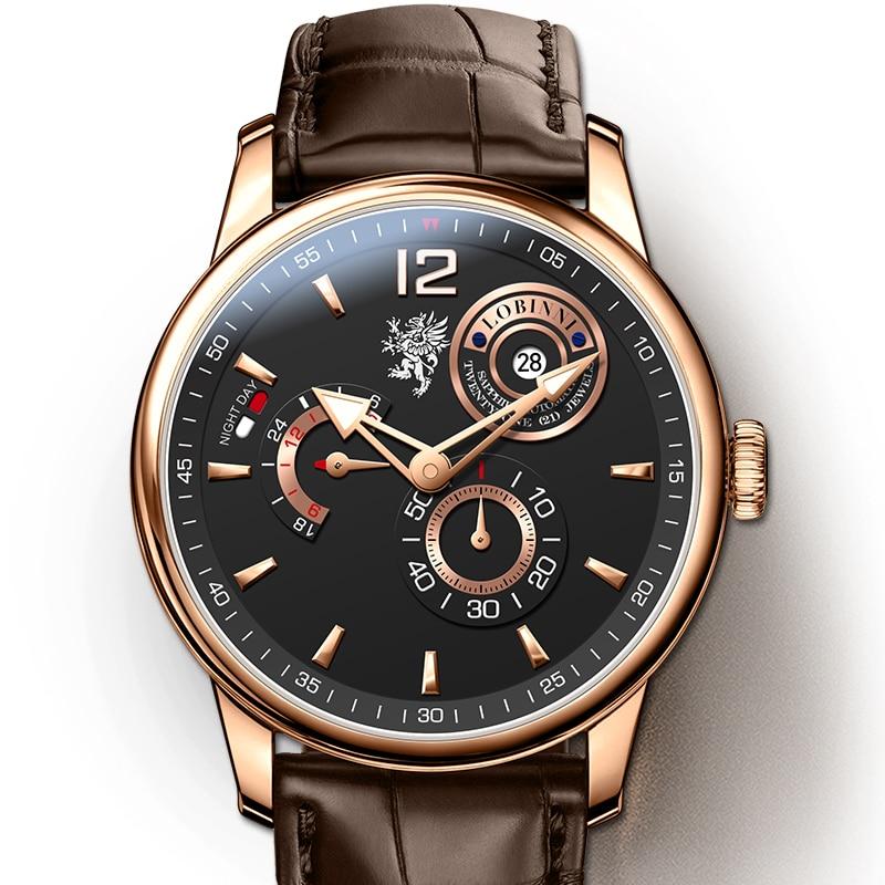 LOBINNI Bvlgari mannen часы мужские механические montre homme zegarek hombres reloj mecánico relógio Japón movimiento 시계 ساعات