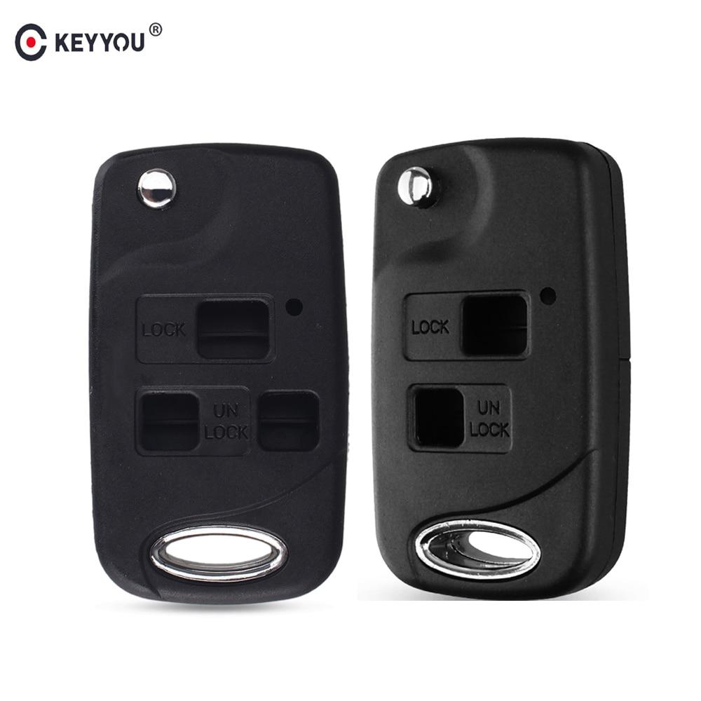 KEYYOU 2/3 кнопки дистанционного ключа автомобиля флип оболочки Fob Крышка для Toyota CAMRY RAV4 Corolla PRADO YARIS Land Cruiser Prado Tarago