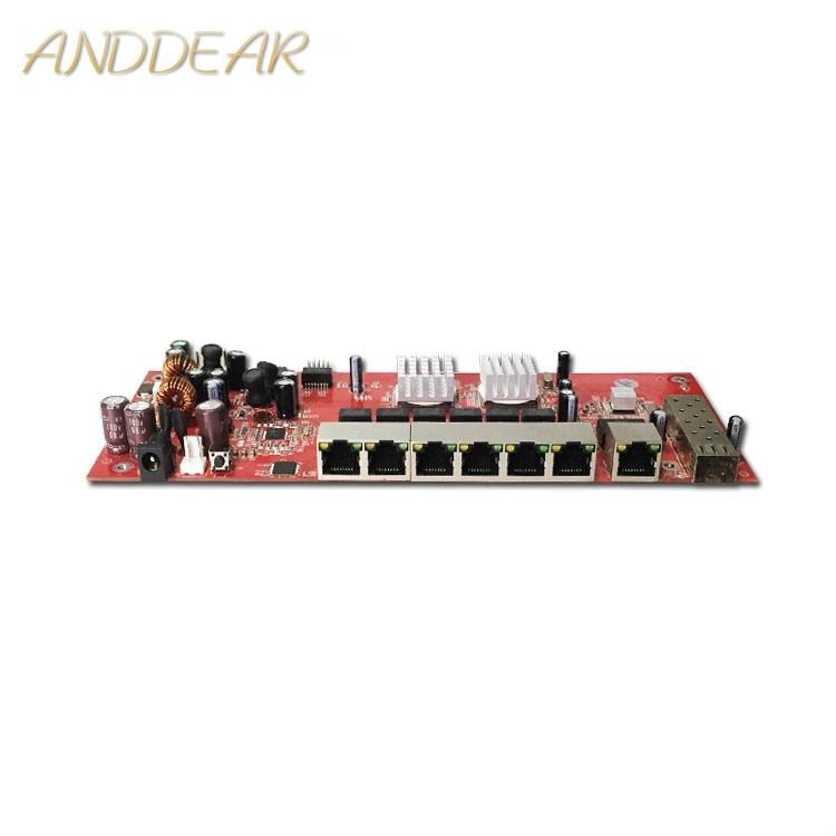 Módulo interruptor Industrial, módulo conmutador SFP de 9 puertos gigabit, compatible con puente wifi AF/AT, interruptor de red cpe para exteriores de 1000mbps