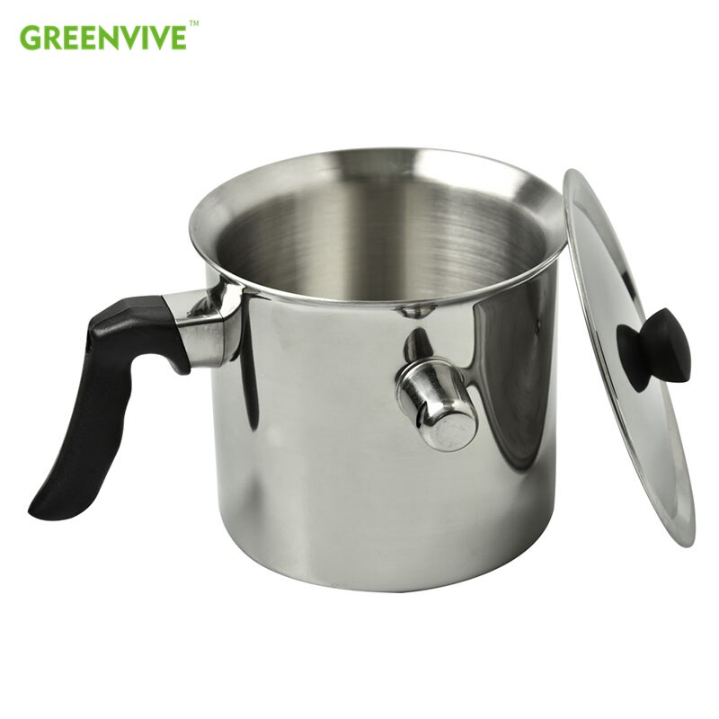 GREENVEVE-وعاء شمع للنحل مع 1.5 لتر من الفولاذ المقاوم للصدأ 304 ، وعاء غير لاصق لغلي النحل ، أدوات تربية النحل