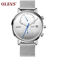 olevs luxury brand men watch quartz clock wristwatch stainless steel montre homme gift watches for boyfriend relogio masculions