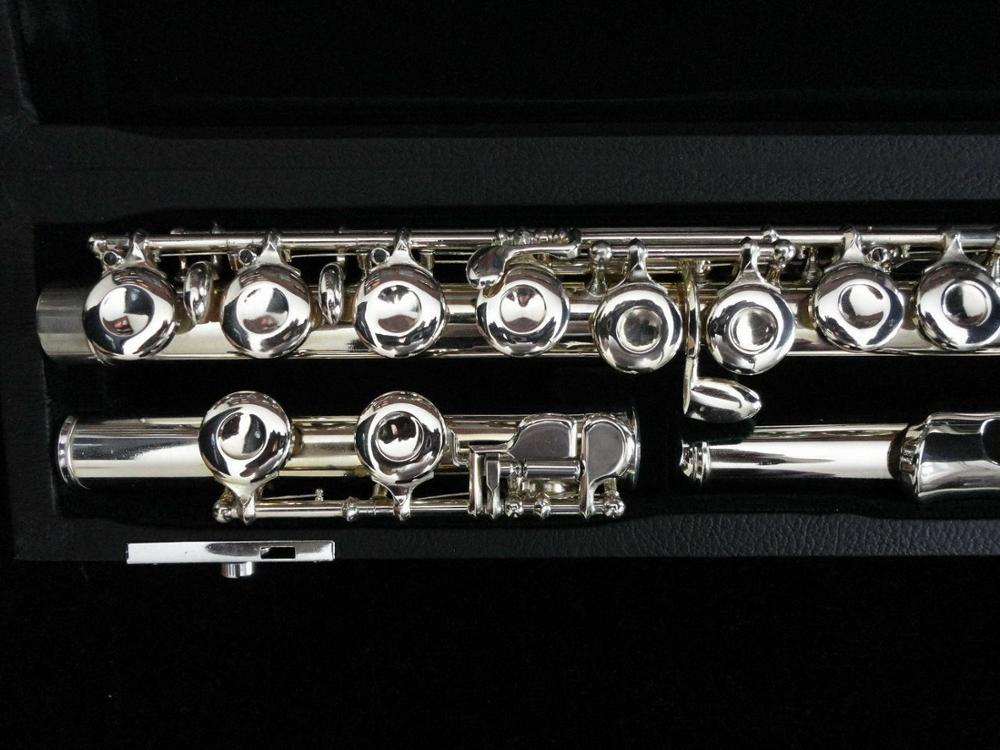 MURAMATSU Flute in 1957 e-gorgeous Performance Musical Instrument Copper-nickel Silver Plated Flute With Case enlarge