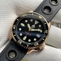 steeldive sd1996s cusn8 solid bronze 200m waterproof nh35 automatic diver watch with ceramic bronze bezel