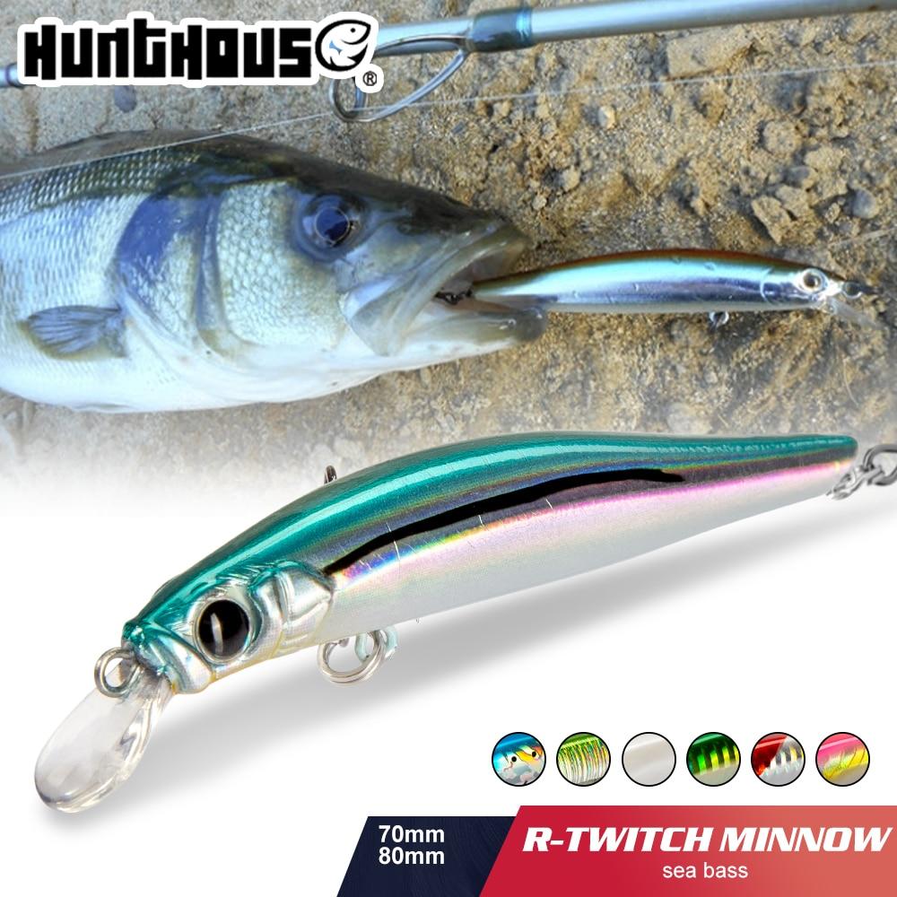 Hunthouse artist minnow sea fishing lure hard bait sinking lure minnow 70mm 7g 80mm 8.5g silence for sea bass недорого