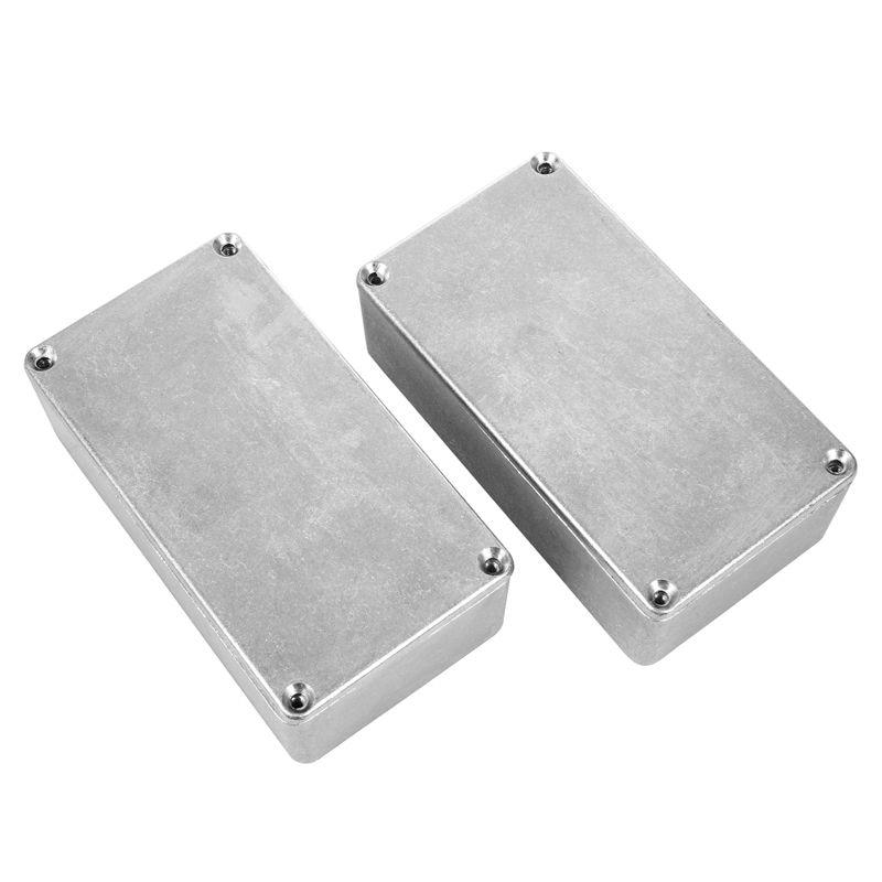 Dropship-2pcs 125b/1590n1 alumínio caso guitarra stompbox & pedal gabinete para guitarra efeito pedal projeto
