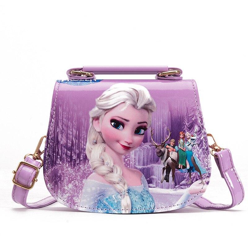 Disney princess children pu messenger bag girl Frozen Elsa shoulder bag Sofia handbag kid fashion shopping bag gift