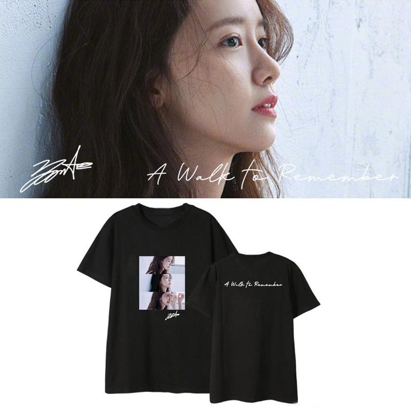 Kpop Yoona Girls Generation SONE A Walk To Remember álbum camisetas sueltas camiseta Camiseta de manga corta Tops camiseta DX1021