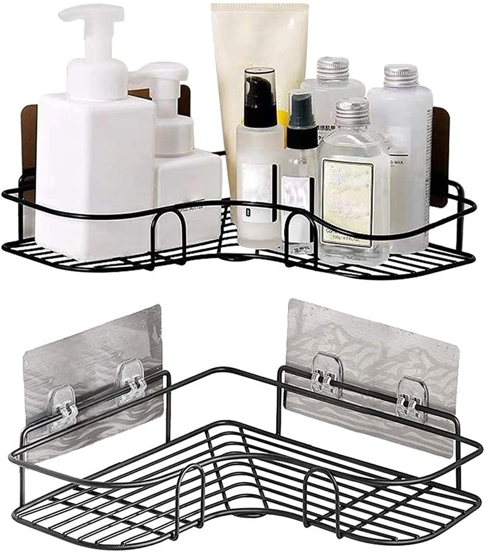 Железные полки для ванной и кухни, держатель для унитаза, угловой стеллаж для хранения шампуня с присоской, аксессуары для ванной комнаты